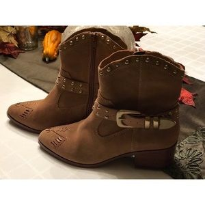 BCBG Cowboy Low Cut Boots/Booties - New